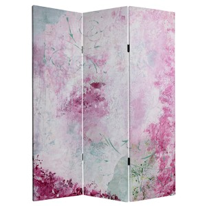 Pink Boudoir Multi-Colored 5 Ft. Tall Canvas Room Divider