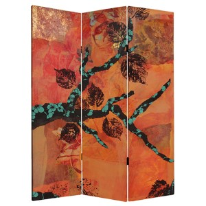 Rich Autumn Multi-Colored 5 Ft. Tall Canvas Room Divider