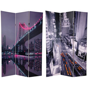 Six Ft. Tall New York State of Mind Room Divider, Width - 48 Inches