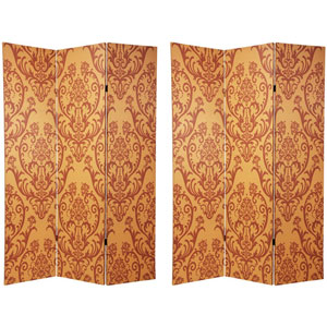 Six Ft. Tall Double Sided Damask Room Divider, Width - 48 Inches