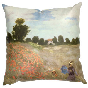 Monet Poppies Pillow