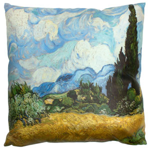 Van Gogh Wheat Field Pillow