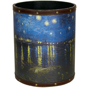 Van Gogh Over the Rhone Waste Basket