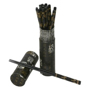 Black Wood Chopsticks Set