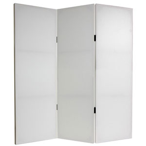 Four Ft. Tall Do It Yourself Canvas Room Divider Three Panel, Width - 47.25 Inches