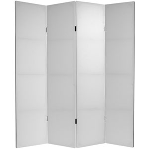 Six Ft. Tall Do It Yourself Canvas Room Divider Four Panel, Width - 63 Inches