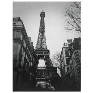 Eiffel Tower Sun Glow: 23.5 x 31.5 Canvas Wall Art