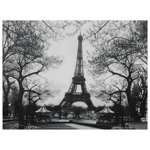 Eiffel Tower Park: 31.5 x 23.5 Canvas Wall Art