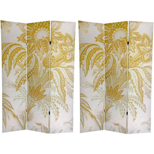 Floral Double Sided Room Divider, Width - 48 Inches