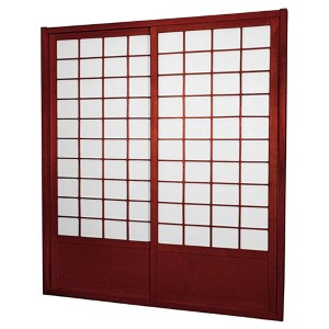 Rosewood 7-Foot Tall Zen Shoji Double-Sided Sliding Door Kit