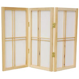 Natural 24-Inch Desktop Double Cross Shoji Screen