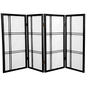 Three Ft. Tall Double Cross Shoji Screen, Width - 70 Inches