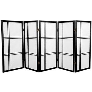 Three Ft. Tall Double Cross Shoji Screen, Width - 87.5 Inches