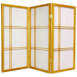 Honey 36-Inch Double Cross Shoji Screen