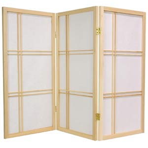 Natural 36-Inch Double Cross Shoji Screen