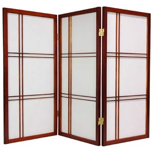 Walnut 36-Inch Double Cross Shoji Screen