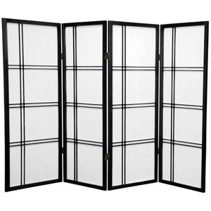 Four Ft. Tall Double Cross Shoji Screen, Width - 69 Inches