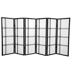 Four Ft. Tall Double Cross Shoji Screen, Width - 103.5 Inches