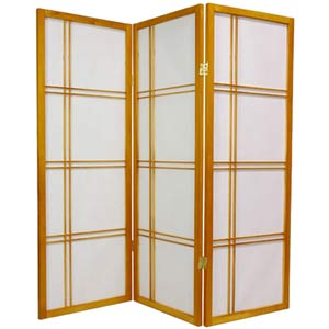 Honey 48-Inch Double Cross Shoji Screen
