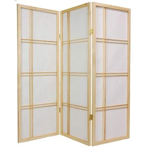 Natural 48-Inch Double Cross Shoji Screen