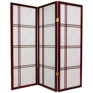 Rosewood 48-Inch Double Cross Shoji Screen