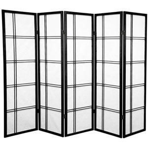 Five Ft. Tall Double Cross Shoji Screen, Width - 85 Inches