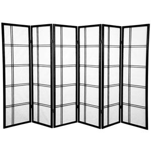 Five Ft. Tall Double Cross Shoji Screen, Width - 102 Inches