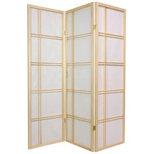 Natural 60-Inch Double Cross Shoji Screen