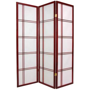 Rosewood 60-Inch Double Cross Shoji Screen