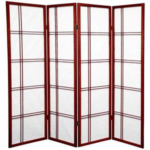 Five Ft. Tall Double Cross Shoji Screen, Width - 68 Inches