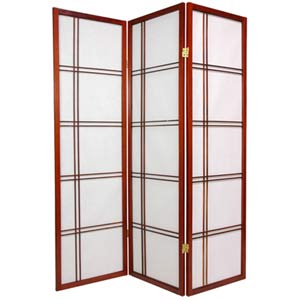 Walnut 60-Inch Double Cross Shoji Screen