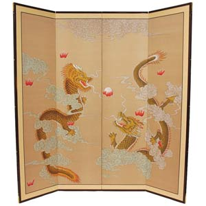 72-Inch Dragons Playing Silk Screen