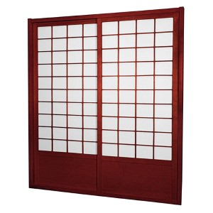 Rosewood 7-Foot Tall Zen Shoji Sliding Door Kit