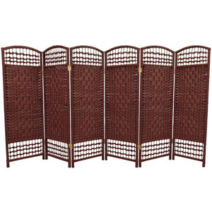 Four Ft. Tall Fiber Weave Room Divider, Width - 96 Inches