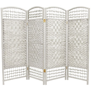 Four Ft. Tall Fiber Weave Room Divider, Width - 64 Inches