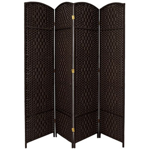Seven Ft. Tall Diamond Weave Room Divider, Width - 79 Inches