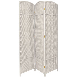 Seven Ft. Tall Diamond Weave Room Divider, Width - 59.25 Inches