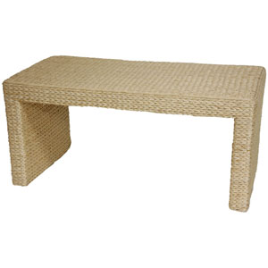 Rush Grass Coffee Table Natural, Width - 36.5 Inches