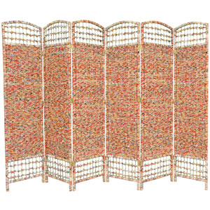 5 1/2 Ft. Tall Recycled Magazine Room Divider, Width - 15.75 Inches