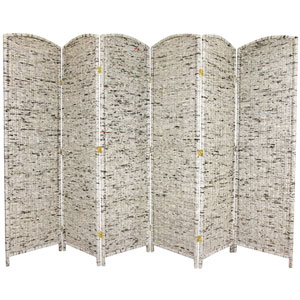 Six Ft. Tall Recycled Newspaper Room Divider, Width - 19.75 Inches