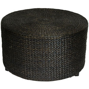 Rush Grass Coffee Table/Ottoman Black, Width - 30 Inches