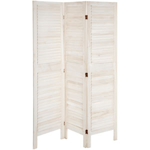 5 1/2 ft. Tall Modern Venetian Room Divider - 3 Panels - White