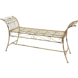 Rustic Garden Bench - Distressed White