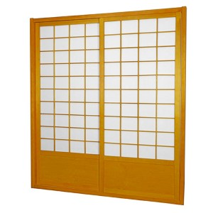 Honey 7-Foot Tall Zen Shoji Sliding Door Kit