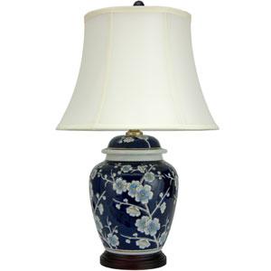 22-inch Blue Cherry Blossom Lamp
