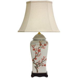 26-inch Cherry Blossom Vase Lamp