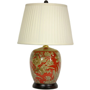 21-inch Floral Bouquet Jar Lamp