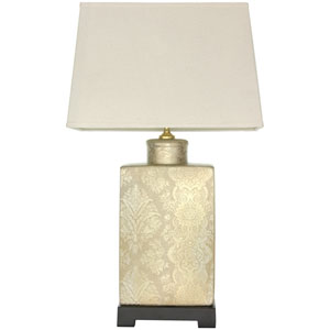 24-inch Finch in the Blossoms Porcelain Lamp