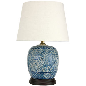 20-inch Classic Blue and White Porcelain Jar Lamp