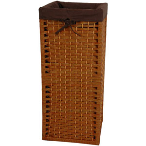 28 Inch Natural Fiber Laundry Hamper Honey, Width - 12 Inches